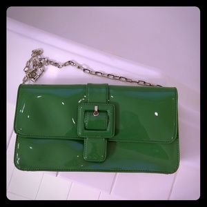 Ann Taylor Loft shoulder green silver bag NEW